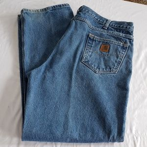 Mens Carharrt Jeans 42x34 Relaxed FIt B160DT